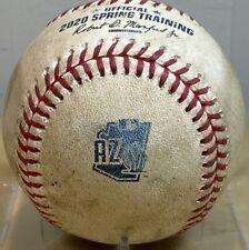 GIANTS v DODGERS *RARE* FEB 2020 GAME-USED SPRING CACTUS LG MLB HOLO BASEBALL