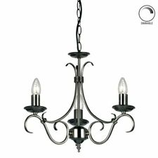 Endon Lighting 2030-3AS 3 Light Chandelier In Antique Silver FREE SHIPPING