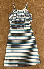 Old Navy Girls Dress Blue And White Striped Spaghetti Strap Size LG 10-12