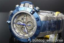 Men Invicta Subaqua Noma III Swiss Auto Valjoux 7750 Blue Titanium LE Watch New