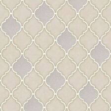 Stone Trellis Tile Wallpaper Embossed Vinyl Glitter Kitchen & Bathroom Holden