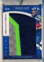 TYLER LOCKETT - 2015 Immaculate 4 Colors Numbers Patch /50 - Seattle Seahawks RC