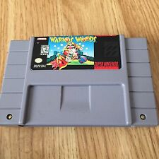Wario's Woods Super Nintendo Snes Game Cart Tested Works Nice Great Game NG5