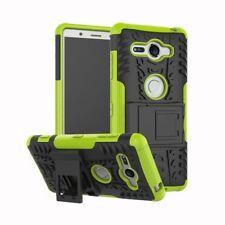 Etui Hybride 2 Pièces Extérieur Vert housse étui pour Sony Xperia XZ2 compact