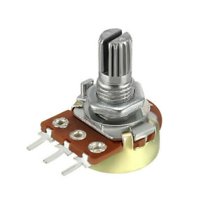 5PCS WH148 B10K 3 Pin 15MM Rotary Potentiometer Ohm Linear Taper Shaft With Nuts