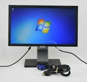 """Dell P2211Ht 21.5"""" Monitor VGA DVI w/ Cables Grade B"""