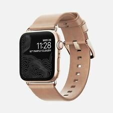 Nomad Horween Leather Strap NATURAL for Apple Watch 1,2,3,4 - 38mm-40mm - GOLD