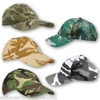 ADULT CAMOUFLAGE CAP ARMY RIPSTOP COTTON HAT MTP DESERT BASEBALL MENS FASHION