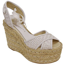 Palomitas by Paloma Barcelo 'taglia 39 uk 6 zeppe sandals wedge white bianche