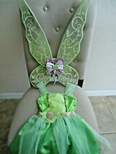 Disney Tinkerbell Dress Size 4-6x with Wings
