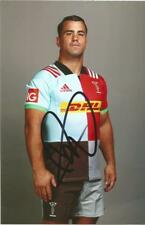 HARLEQUINS RUGBY UNION: DAVE WARD SIGNED 6x4 PORTRAIT PHOTO+COA