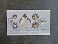 2014 ROSS DEPENDANCY PENGUINS OF ANTARCTICA 5 STAMP MINI SHEET FIRST DAY COVER