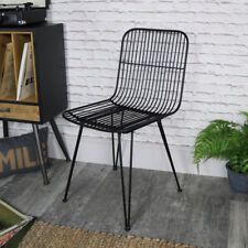 Black tubular wire metal Midas occasional dining chair vintage retro industrial