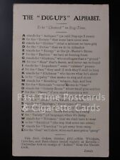 """Verse Postcard: THE """"DUG-UP'S"""" ALPHABET (to be chanted in Rag-Time) UB c1907"""