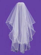 White Bridal Veils and Tiaras