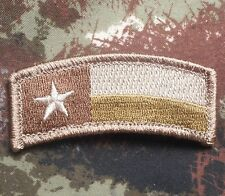 TEXAS ROCKER TAB STATE FLAG USA ARMY BADGE MULTICAM VELCRO® BRAND FASTENER PATCH