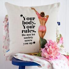 Pin Up Cushion Cover Pillow Pretty Curvy Girl Christmas Gift Him Her KC70
