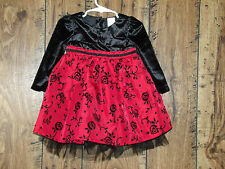 TODDLER GIRL'S 18M RED/BLACK  DRESS W/ BOTTOMS SET  PERFECT 4 CHRISTMAS PHOTOS