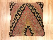 Unique Rustic VINTAGE ANTIQUE Cushion made with Afghan Handmade Wool Kilims -35%