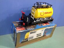 (O4107.1) playmobil train, wagon jaune shell ref 4107 en boite