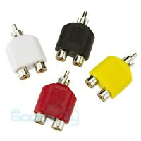 MUCH 4X RCA Y Splitter AV Audio Video Plug Converter 1-Male to 2-Female Adapter