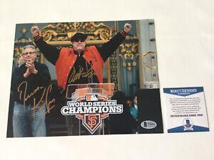 Mike Krukow Duane Kuiper Signed Autographed GIANTS 8x10 Photo BECKETT BAS COA d