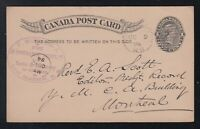 Canada 1894 NEW GLASGOW Nova Scotia INSURANCE Advertising Postal Stationery Card