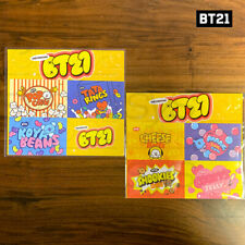 BTS BT21 Official Authentic Goods Deco Sticker Snack Ver 2SET 185x165mm + Track#