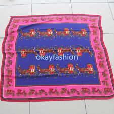New Lady Wool Square Scarf With Horse 120*120cm