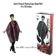 barber cape Andre Picasso Styling Cape, Black/Red