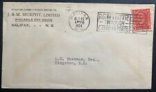 1934 Halifax Canada Commercial Slogan cancel Cover To Kingston