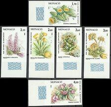 Monaco Flore Fleurs Primevere Flowers Blumen Non Denteles Imperfs Proofs ** 1985