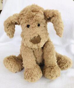 "Jellycat London Tan Puppy Dog 9"" Tall  Plush Stuffed Animal"