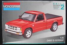 Monogram 2434-CHEVY s-10 Pickup - 1:25 - Voiture Modèle Kit-Model Kit