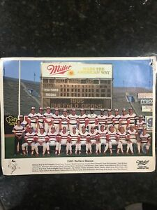1985 BUFFALO BISONS 9 X 12 COLOR TEAM PHOTO AAA CHICAGO WHITE SOX