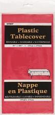 """UNIQUE OBLONG PLASTIC TABLECLOTH Table Cover Party (54""""x108"""") UK 22 COLOURS"""