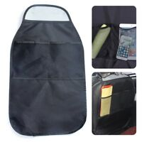 Multi-Pocket Car Back Seat Organizer Storage Bag Protector Kids Child Kick Mat