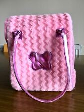 PUCCI PUPS Pink fluffy dog cat carrier.