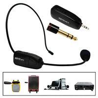 Wireless Headset-Mikrofon Kopfbügelmikrofon+3.5mm / 6.5mm Adapter Taschesender