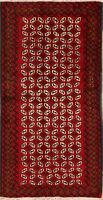 New Geometric Balouch Afghan Wool Area Rug Hand-Knotted Oriental Carpet 3'x6'