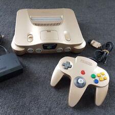 Nintendo 64 Gold Console + Controller NTSC-J Japan N64 + AUS PLUG OPTION 🇦🇺
