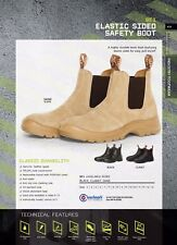 Elastic Sided Durable Working Safety Boots Steel Toe Cap Genuine Leather upper