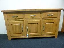 New Large Contemporary Chunky Oak 3 Door 3 Drawer Sideboard *Morris Furniture*