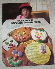 1983 ad page -Libby's Pumpkin great cookies recipe- cute Halloween vintage AD