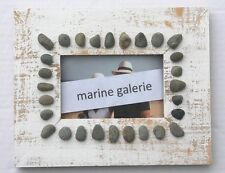 Cadre photo 10x15 décoration marine mer plage galets à accrocher fabr. France