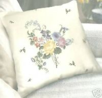 "Floral Cushion Front (28 Count) Cross Stitch Kit - DMC - 15"" x 15"""