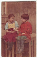 """KHRISTOS VOSKRESE"" CHILDREN AND EGG PC 1905 / RUSSIA"