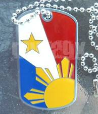 Philippines Filipino Dogtag Pinoy Pinay Pride Pendant Charm Necklace SHIMMER