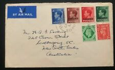 1952 Tanger Morocco British Agencies Cover To Australia King Edward VIII Stamps
