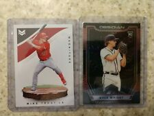 2019 Panini Obsidian /25 Red Kyle Wright  RC & Mike Trout Magnitude 2020